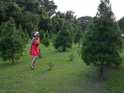 Elizabeth Chan in Christmas Tree Forest!